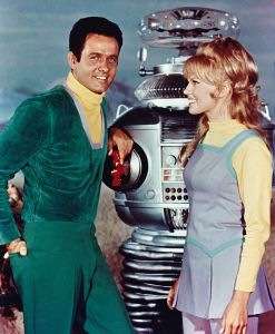 "Don West and Judy Robinson from ""Lost in Space."""