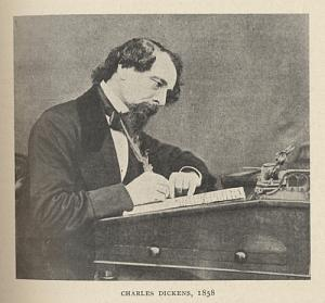 Phot of Charles Dickens .